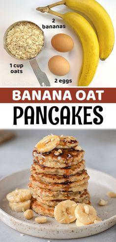 Healthy Desayunos, Plats Healthy, Good Healthy Recipes, Low Calorie Recipes, Baby Food Recipes, Recipes With Bananas Healthy, Healthy Meal Prep, Healthy Sweets, Kids Eating Healthy