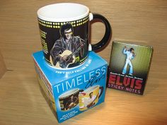 Elvis, Timeless Mug and Sticky Notes.  Available at Best of Friends Gift Shop in the lobby of Winnipeg's Millennium Library. 204-947-0110 info@friendswpl.ca Gifts For Friends, Best Friends, Sticky Notes, Pots, Tableware, Shop, Beat Friends, Dinnerware, Dishes