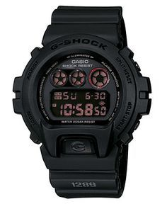 G-Shock Watch, Men's Black Resin Strap DW6900MS-1 - G-Shock - Jewelry & Watches - Macy's