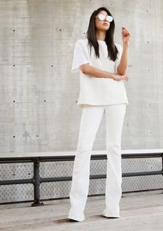 Pair a boxy top with fitted flares for a relaxed but feminine look as seen on Riches for Rags.