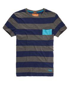Superdry Hoop Stripe T-shirt - Men's T Shirts Independent Clothing, Men's Wardrobe, Cut Shirts, Striped Tee, Superdry, Fashion Prints, Shirt Outfit, Shirt Designs, Men Casual