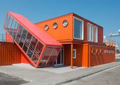 This New Shipping Container Office is Handsomely Off-Kilter - Adaptive Reuse - Curbed National