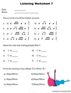 Primary Music Listening Worksheet. Could use something like this ...