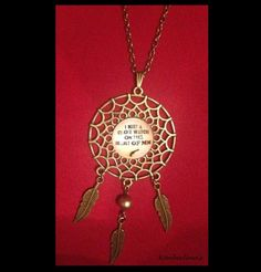 """JOHNNY CASH """"I KEEP A CLOSE WATCH ON THIS HEART OF MINE"""" DREAMCATCHER NECKLACE…"""