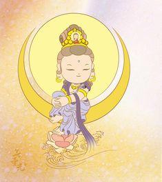 관음보살 Chinese Painting, Chinese Art, Little Buddha, Buddha Art, Learn Art, Guanyin, Asian Art, Japanese Art, Fantasy Art