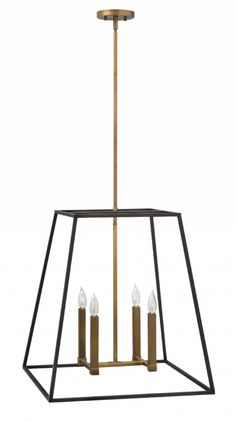 Hinkley Lighting carries many Bronze Fulton Chandeliers light fixtures that can be used to enhance the appearance and lighting of any home.