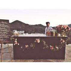 How to DIY a Bar for Your Outdoor Wedding Reception
