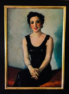 "Eugene Spiro, ""Comtesse de Contade"", 1936, Oil on canvas"