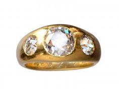 1924 Gypsy Set Three Diamond Ring