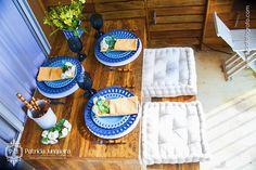 Decoração e composição de mesa para churrasco por Patrícia Junqueira