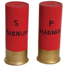 Rivers Edge Products Shotgun Shell Salt & Pepper Shakers by Rivers Edge Products at Fleet Farm Backyard Cookout, Tabletop Accessories, Salt And Pepper Set, Hand Painted Ceramics, Glazed Ceramic, Salt Pepper Shakers, Cool Gifts, Stuffed Peppers, Hunting Cabin