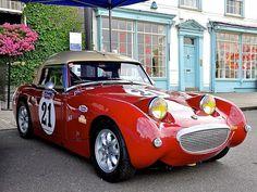 Vintage Sports Cars, British Sports Cars, Vintage Racing, Vintage Cars, Sport Cars, Race Cars, Birmingham, Austin Cars, Austin Healey Sprite