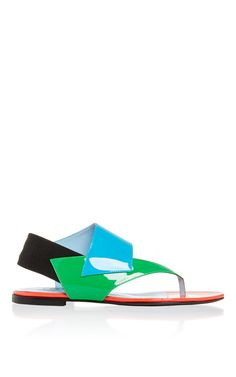 620ea5a55 Studio Pollini Flat Leather Veronica Sandal