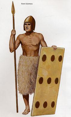 -2500 Sumerian spearmen шумер