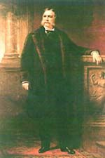 President Chester A. Arthur - became President when President James Garfield was assassinated.