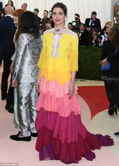 MeanwhileMonaco's Princess Charlotte Casiraghi looked more avant garde with this free-flo...