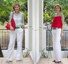 combinar pantalon ancho blanco - Buscar con Google