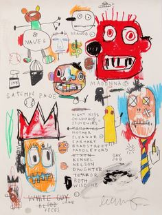 JEAN MICHEL BASQUIAT WITH SIGNATURE NOT PHOTOSHOPPED OUT