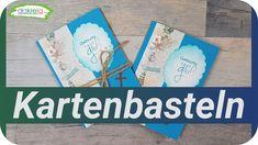 Fun Fold Card Kartenbasteln am Feierabend | Karte zum Geburtstag [Tutorial | deutsch] Grußkarten / Geburtstagskarte selber basteln für Anfänger und Fortgeschrittenen. Karten selber basteln -  Kartenbasteln Grundanleitung DIY Inspiration basteln mit Papier (Selbstgebastelte Karten / How to / Cards 25/2020)  [Tutorial | deutsch]  Schritt-für-Schritt erklärt. Watch me craft.  Video Nr. 639 auf diesem Kanal. Diy Inspiration, Cover, Books, Youtube, Deutsch, Tutorials, Livros, Book, Slipcovers