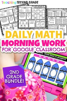 Looking for a way to give morning work or {daily math} to your students that's fun and engaging? Watch your kids learning soar with this GROWING bundle from Teaching Second Grade. There will be 2,000 digital task cards when complete! Snag this resource and enjoy how your students will engage with these fun math learning tasks.