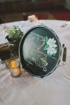 """vintage trays as table """"numbers"""" // photo by John + Louise Weddings"""