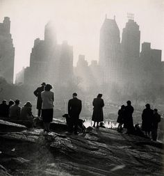 Gita Lenz, Looking down on Wollman Rink, Central Park, 1949-1950s