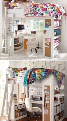 A Loft Bed That Combines Sleep Study and Storage