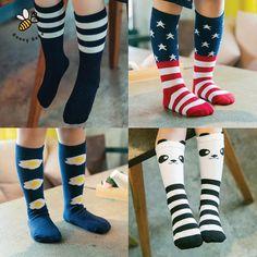 Socks Constructive 2018 Popular Lovely Cartoon Animal Baby Kids Girls Boys Long Knee-high Cotton Socks Socks, Tights & Leggings