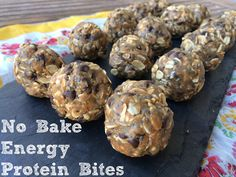 No Bake Energy Protein Bites - Run Intended
