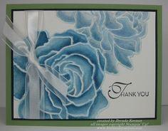 Watercoloring with Manhattan Flowers Embossing Folder    video tutorial at http://www.youtube.com/watch?v=IR4Yelu13F4