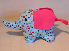 Baby Elephant Softie / Rattle - by SewYarnLovable on madeit