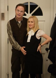 Dwight and Angela - The Office Best Of The Office, The Office Jim, The Office Dwight, The Office Show, Office Tv, Office Cast, Dwight And Angela, Angela Martin, Office Halloween Costumes