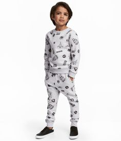 Sweatshirt and Pants | Light gray/space | Kids | H&M US