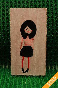 Parisian Chic Wooden Tags, Parisian Chic, Type 4, Dressing, Hand Painted, Fall, Parisian Chic Style, Autumn, Fall Season