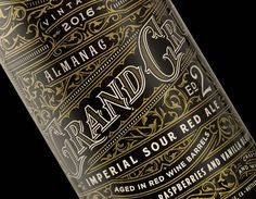 2016 Grand Cru bottled designs for the Almanac Beer Co. This is the second edition limited release for Almanac's Grand Cru. The design is printed 360 degrees around and is accompianed by a twice foiled hang tag.