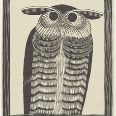 Hoornuil, Samuel Jessurun de Mesquita, 1915 - Rijksmuseum Owl, Bird, Animals, Mosque, Animales, Animaux, Owls, Birds, Animal