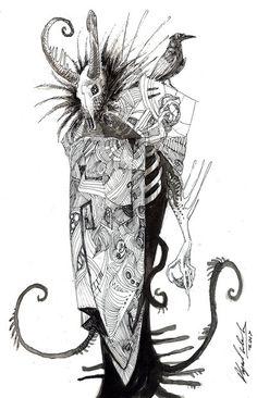 Untitled Bonehead by Abz-J-Harding
