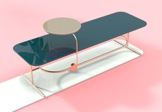 Rolly on Behance Media Furniture, Steel Furniture, Living Furniture, Unique Furniture, Table Furniture, Furniture Design, Furniture Ideas, Cheap Living Room Sets, Meeting Table