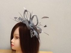 Silver/grey Hair Fascinator On Comb in Clothes, Shoes & Accessories, Women's Accessories, Fascinators & Headpieces | eBay