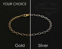 CREATE A CHARM BRACELET  14k Gold or Sterling Silver Bracelet Chain, Plain Chain Bracelet, Little Girl, One of a Kind Gift, Keepsake Jewelry