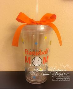 #baseballmom #personalized #tumbler by #LikiDesigns