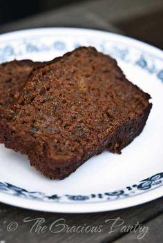 Chocolate Zucchini Bread from The Gracious Pantry. No refined sugar. AMEN!