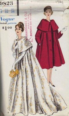 Amazing Vogue Sewing Pattern 1959 Hollywood by AdeleBeeAnnPatterns, $45.00