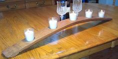 This Wine Barrel Stave Candle Holder will brighten your day!