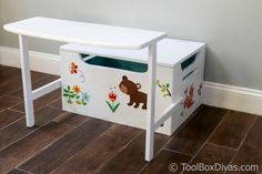 Convertible 3 in 1 Toy Chest Toy Storage Bench, Diy Kids Furniture, Wood Chest, Wood Toys, Diy Toys, Wooden Diy, Room Organization, Diy For Kids, Wood Projects