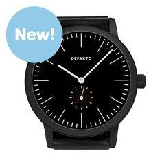 Detail+Struktur+(black) watch by Defakto. Available at Dezeen Watch Store: www.dezeenwatchstore.com
