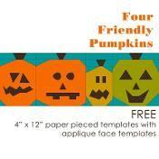 Four Friendly Pumpkins - via @Craftsy