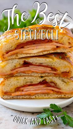 This stromboli recipe is tender dough stuffed with tomato sauce, cheese and Italian meats, then baked to golden brown perfection. Stromboli Recipe, Italian Meats, Italian Appetizers, Paninis, Good Pizza, Golden Brown, Tomato Sauce, Lasagna, Italian Recipes