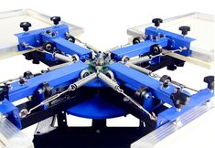 f4456b8f Manual Rotating Silk Screen Printing Machine Fabric Printer SM-3 Inquiry:  yuanchengscreen@foxmail