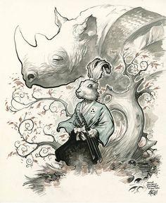Beautiful Usagi Yojimbo Fan Art by Eric Powell — GeekTyrant
